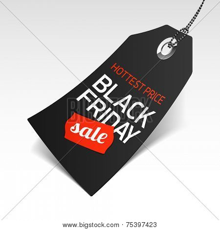 Black Friday Sale price tag. Vector.