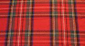 Royal Stewart Scottish plaid red fabric background poster
