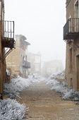 Belchite village destroyed in a bombing during the Spanish Civil War, Saragossa, Aragon, Spain poster