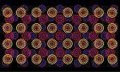 Multi-level floral autostereogram. Eps8. CMYK. Global colors. Gradients free. poster