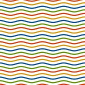 Multi colored Waves Background - Endless design poster