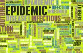Epidemic as Outbreak of Infectious Disease as Art poster