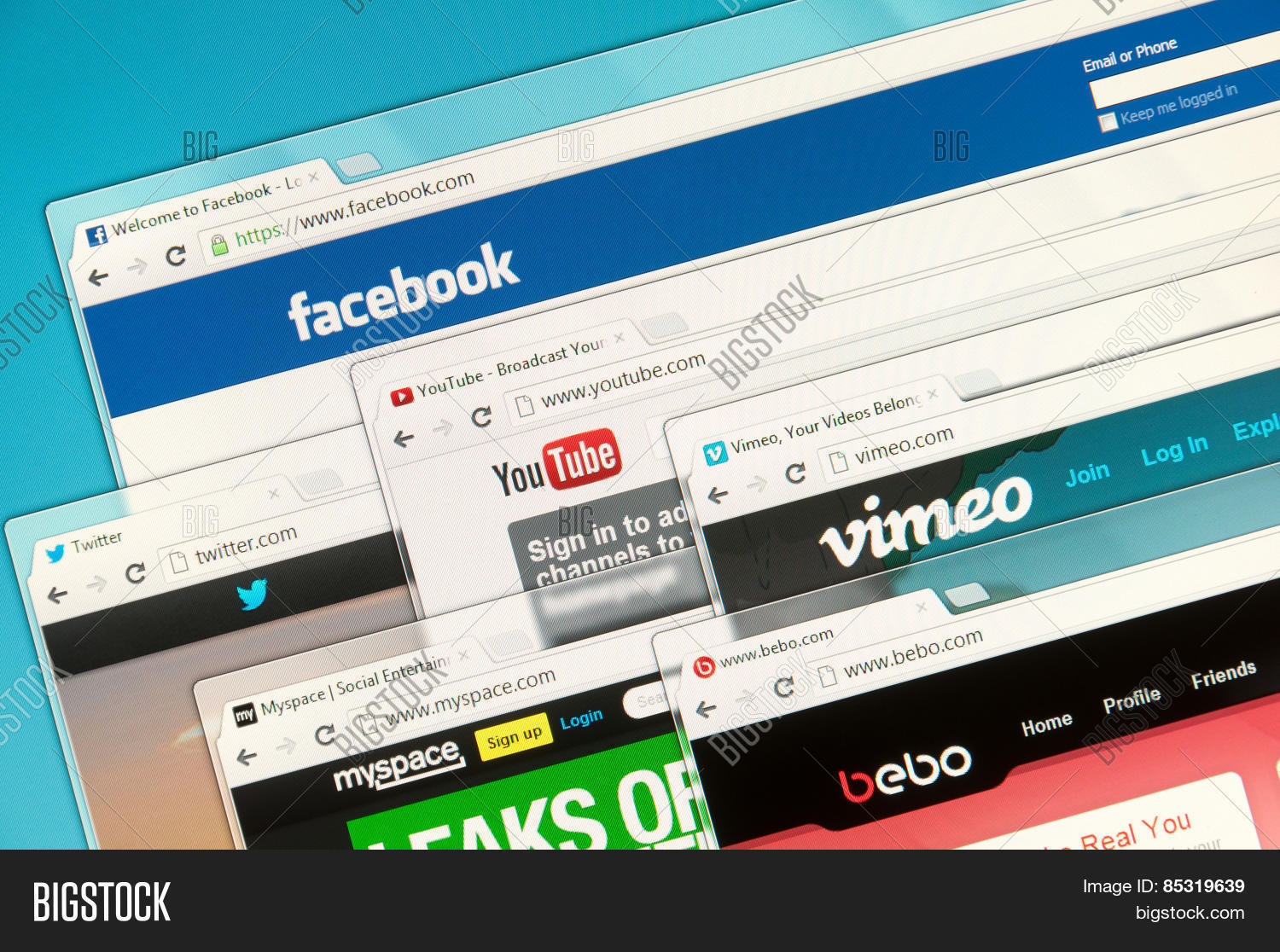 social networks on image photo free trial bigstock