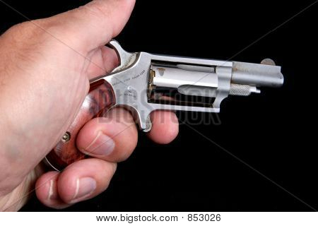 Derringer in hand