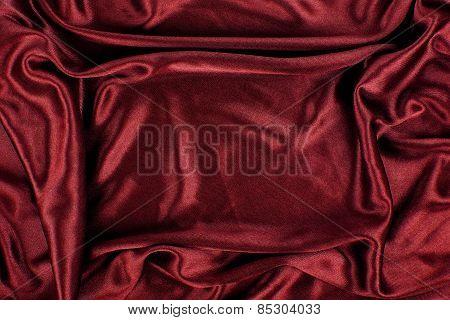 Maroon Satin Silk Velvet Cloth Fabric Background