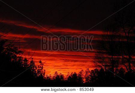 Fire Night Sky