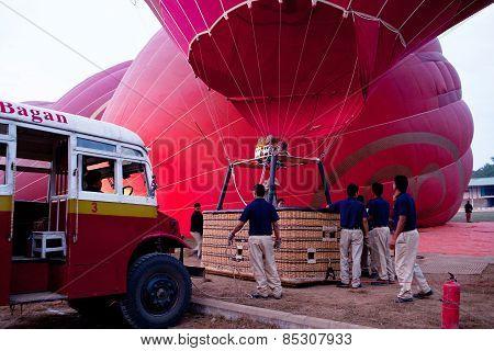 Balloon over Bagan, Myanmar