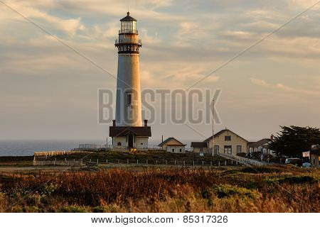 Lighthouse on the california coast, Pigeon Point Lighthouse