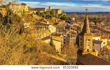 View Of The Lower Town Of Beziers From The Cathedral - France