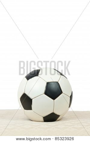 Soccer Ball On Vertical White
