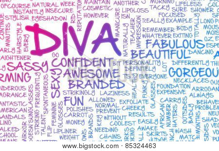 Diva Crazy Attitude as a Art Concept