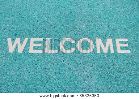 Blue Welcome Carpet, Welcome Doormat Carpet