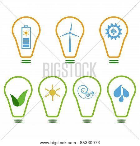 Set of eco logos