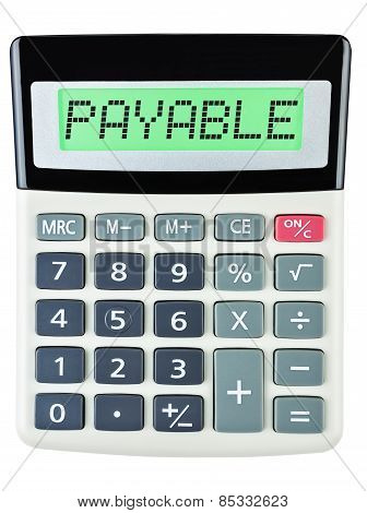 Calculator With Payable