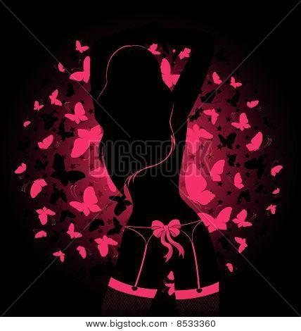 silhouette of beautiful womanish body