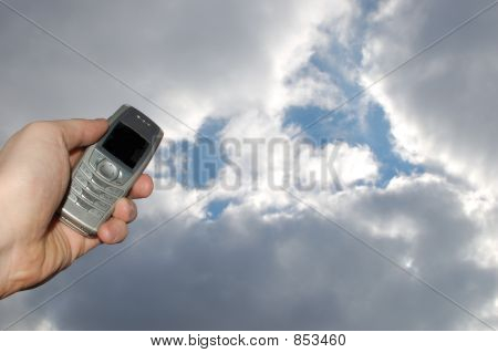 Holding Mobile Phone #4