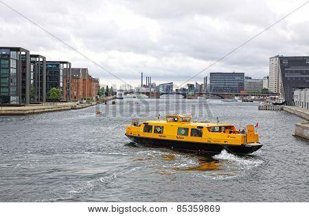 Harbour Bus In Copenhagen, Denmark