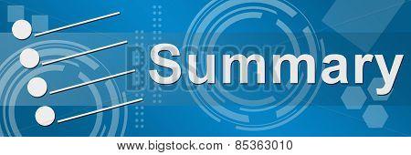 Summary Blue Techy Background