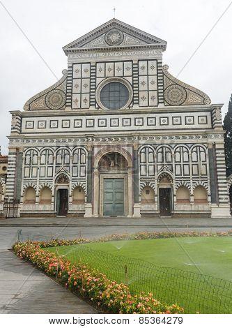 Florence (Firenze Tuscany Italy): the medieval church of Santa Maria Novella poster