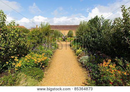 Gardens and plants Barrington Court near Ilminster Somerset England uk Tudor manor house
