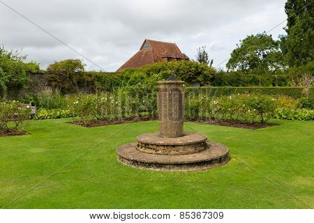 Sundial Barrington Court near Ilminster Somerset England uk Tudor manor house
