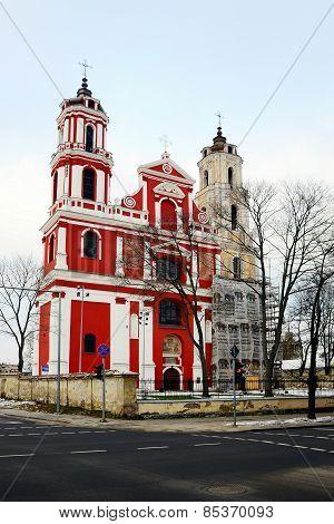 Church Of Sacred Jakob And Phillip At Side Of Lukiskiu Place