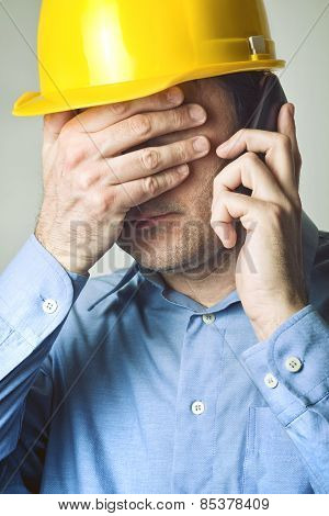 Construction Engineer On The Phone