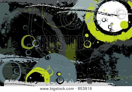 Modern background with many circles poster