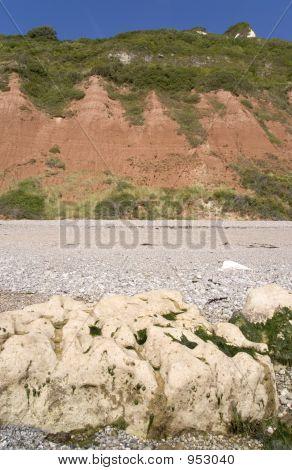 england devon jurassic coast branscombe mouth beach poster
