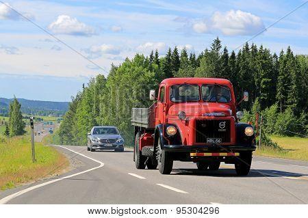 Volvo Titan Tipper Truck On The Road