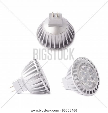 Modern plastic led bulb isolated