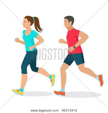running man and woman