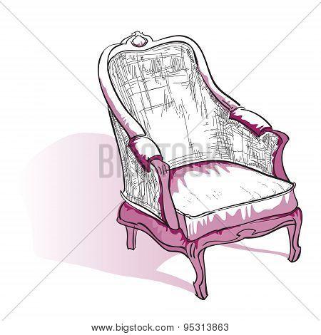 Cosy interior sketch.