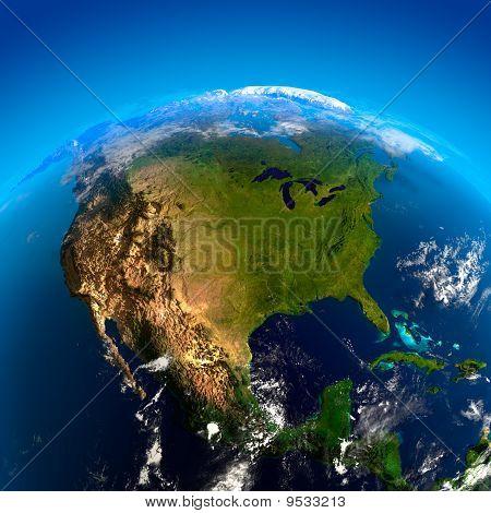 Nordamerika aus dem Weltraum