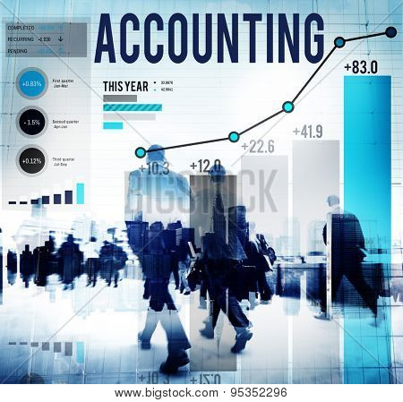 Accounting Economy Financial Banking Revenue Concept poster
