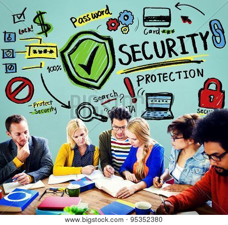 Security Shield Protection Privacy Network Concept poster