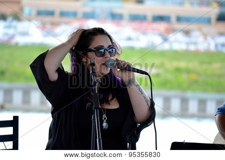 ATLANTIC CITY,NJ USA-6/29: Dynasty Marie Sings