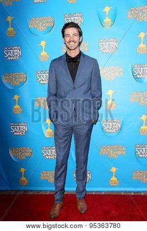 BURBANK - JUNE 25: Grant Gustin arrives at the 41st Annual Saturn Awards on Thursday, June 25, 2015 at the Castaway Restaurant in Burbank, CA.