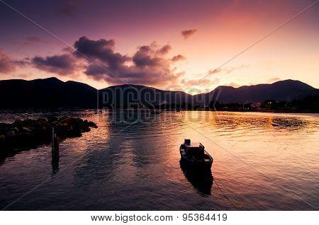 Beautiful sunset in Con Dao island, Vietnam
