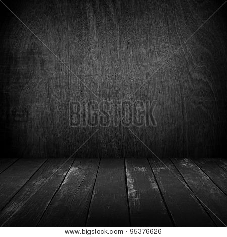 interior of wood board background