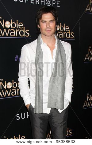 LOS ANGELES - FEB 27:  Ian Somerhalder at the Noble Awards at the Beverly Hilton Hotel on February 27, 2015 in Beverly Hills, CA
