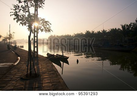 Sunrise in Hoian ancient town