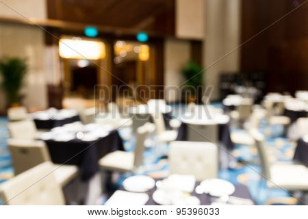 Abstract blurred conference hall