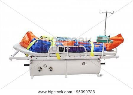 Medical reanimation equipment for helicopters
