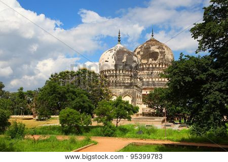 Historic Qutbshahi tombs in Hyderabad India