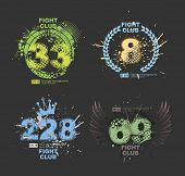 Grunge gangster lucky number prints vector. Grunge print for t-shirt. Abstract dirt backgrounds texture. Grunge banner with an inky dribble strip with copy space. Abstract background for party poster