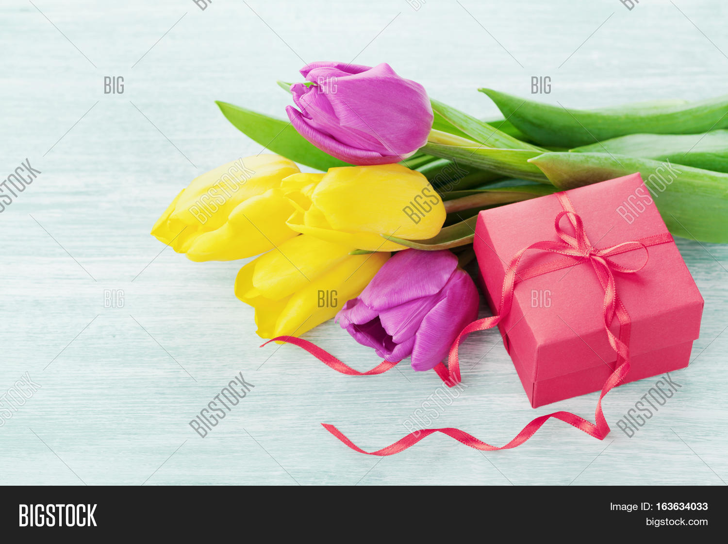 Spring Flowers Gift Image Photo Free Trial Bigstock