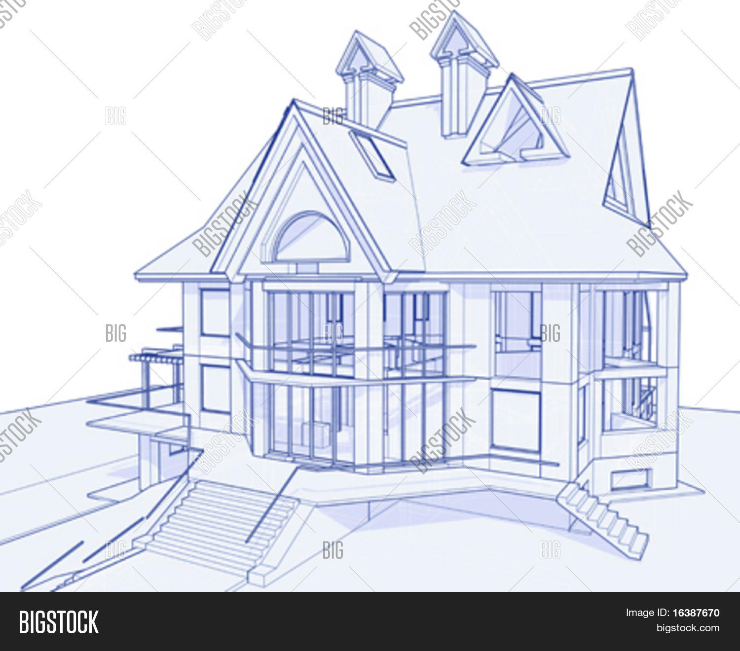 3d blueprint house vector photo free trial bigstock 3d blueprint house vector technical draw malvernweather Gallery