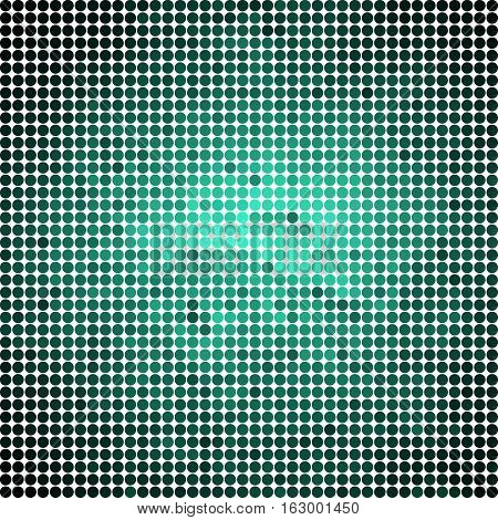 abstract vector colored round dots background - teal