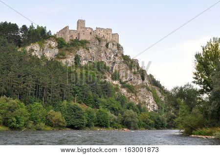 ruins of castle Srterno in Slovakia in Europe